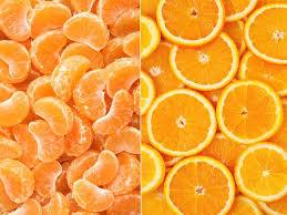 portakal ile mandalina